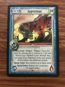 Supremus Warlord Saga of the Storm CCG Card