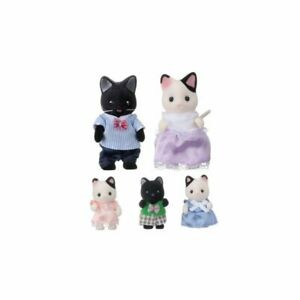 Epoch Sylvanian Families charcoal cat family set New from Japan F/S