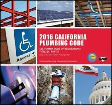 2016 California Plumbing Code Book - New