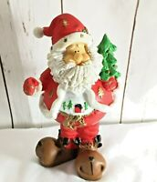 "Santa Clause ceramic standing figurine in big reindeer boots 8"" tall 4.5"" wide"