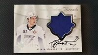 2008-09 UD ULTIMATE DEBUT THREADS STEVEN STAMKOS ROOKIE AUTO PATCH #ED 12/35