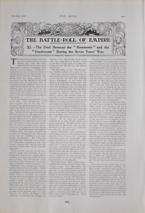 1903 PRINT BATTLE ROLL OF EMPIRE DUEL BETWEEN MONMOUTH FOUDROYANT 7 YEARS WAR