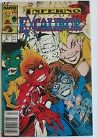 Marvel comics Inferno Excalibur # 6 VF+ newsstand Edition (W)