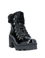 RRP €150 NILA & NILA Leather Combat Boots EU 38 UK 5 US 8 Patent Made in Italy