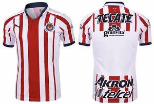 🔥Puma Chivas FC Mexico Home Men Soccer Replica Jersey Sz M,XL 703881-01 MSRP$90