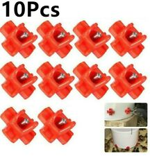 10pcs Poultry Water Drinking Cups Auto Drinker Feeder Nipple Chicken Bird Hen