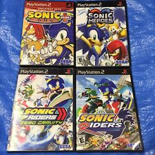 Playstation 2 Sonic The Hedgehog Riders Zero Gravity Mega Collection Heroes