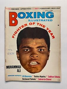 Boxing Illustrated Magazine March 1971- (Fighter of The Year - Muhammad Ali)