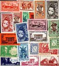 Martinique 100 timbres différents
