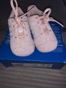 Genuine Pink Adidas Gazelle Crib Trainers Size 2K