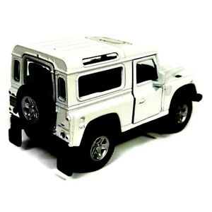 WHITE Land Rover Defender  Model Toy Car Diecast 1:38 Scale DieCast Metal NEW