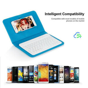 For iPhone Phone Tablet Wireless Bluetooth Keyboard Leather Case Stand Cover