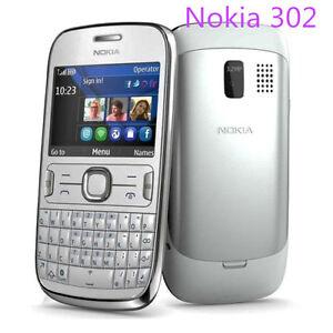 Unlocked Original Nokia Asha 302 3020 RM-813 QWERTY WIFI Bar Mobile Cell Phone
