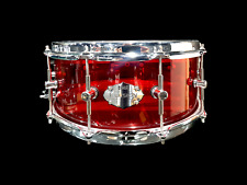CHAOS ILLUSION ACRYLIC SNARE DRUM 14'' x 5.5'' - CRYSTAL RED