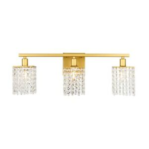 Living District Phineas 3 Light Wall Sconce, Brass - LD7010BR