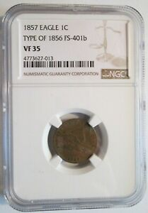 1857 Flying Eagle - Type of 1856 - NGC VF-35!