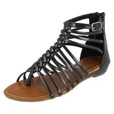 36 Scarpe sandali neri per bambine dai 2 ai 16 anni