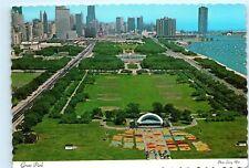 Chicago Illinois Grant Park Aerial View Vintage 4x6 Postcard A41