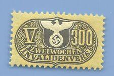 Germany Nazi Third Reich Nazi Swastika Eagle Revenue V300 Stamp MNH WW2 ERA