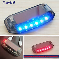 Dual Color Blue Red 6 LED Car Burglar Alarm Warning Light Solar Charging Board
