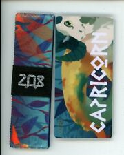 Medium ZOX Silver Strap CAPRICORN Wristband with Card Reversible