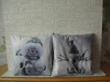 Kissenhülle Kissenbezug Dekokissen Weihnachten  Schneenann 40x40 cm