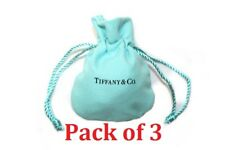 [x3] Tiffany & Co. Cloth Suede Drawstring Travel Mini Jewelry Pouch Gift Bag