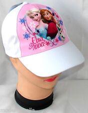 (tg. 52) Frozen Disney Cappello con Visiera Bambina Baseball Tg 52 I 54 (s2m)