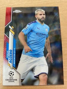 Topps Chrome Champions League Sergio Aguero 05/10 Red Manchester City