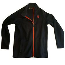 Spyder Womens L 14/16 Jacket Full Zip Mid Weight - Black - Red Spider/Zip