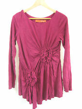 Lounge Size S Magenta Long Sleeve Top