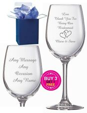 Personalised Engraved Wine Glass Wedding Gift Bridesmaid Gifts, Maid of Honour