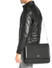 Hugo Boss Black Nylon and leather messenger Shoulder Briefcase NWT $495