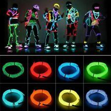 Neon Glow Flexible EL Strip Tube Wire Light Rope Decoration Shoe Party Dance Car
