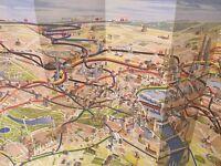 CENTRAL LONDON Tourist MaP RARE AND AMAIZING 3D images/foldaway map