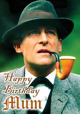 Sherlock Holmes Jeremy Brett Sir Arthur Conan Doyle Birthday PERSONALISED Card