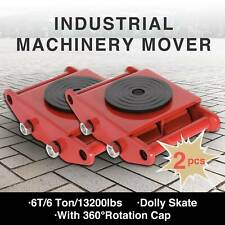 2Pcs Red Industrial Machinery Mover 4 Dolly Skate Roller Trolley Swivel Cap