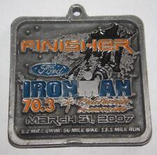 2007 Ironman Ford California Oceanside Triathlon Finishers Medal 100%Original