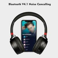 Bluetooth Wireless Headphones Ear Headset Noise Cancelling Microphone With Q6M8