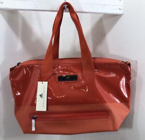 Adidas NEW Stella McCartney Orange Gym Studio Zip Weekender Bag
