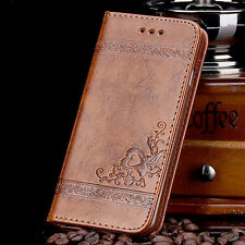 Floral Leather Wallet Case for iPhone 5s 5 SE 6s 7 Plus Leather Phone Cover Case