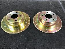 FOR SUBARU LEGACY OUTBACK  SPORT GROOVED REAR BRAKE DISCS