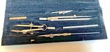 CHARVOZ France Antique Compas de Precision~Drafting Kit tools