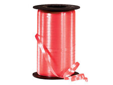 """*500YDS* 3/16"""" CORAL Crimped Poly Curling Ribbon"""