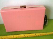 PRIMARK HARD CASE PINK HAND CLUTCH BOX rose gold SHOULDER BAG HANDBAG PURSE BNWT