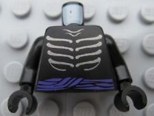 LEGO - Minifig, Torso Ninjago Ribs & Purple Belt - (Lord Garmadon) - Black