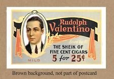 RUDOLPH VALENTINO CIGARS POSTCARD PROMOTION COMMEMORATIVE POSTCARD