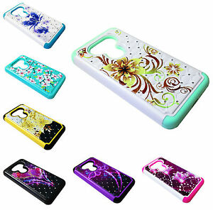 Sparkle Dual Hard Soft Hybrid Phone Cover Case For LG G5 H850 VS987 LS992 H831
