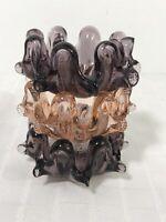 Italian Art Glass Stacking Nesting Mini Ashtrays set of 3