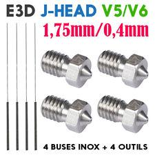 Lot x4 Buse Inox 0.4mm Extrudeur E3D V4/V5/V6 Kraken J-head 1.75mm Imprimante 3D